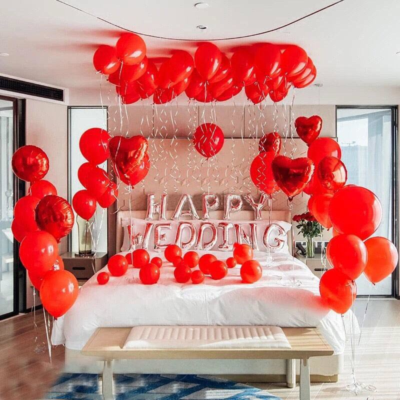 Mẫu trang trí phòng cưới bằng bong bóng cực đẹp