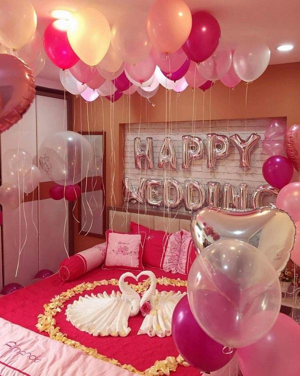 Trang trí phòng cô dâu ngày cưới
