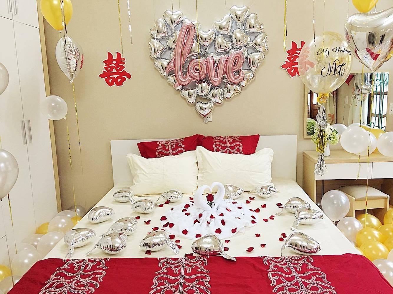 Trang trí phòng cưới hiện đại