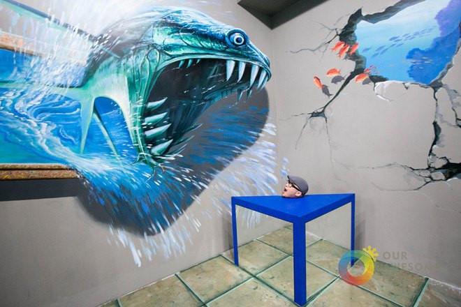 Bức tranh 3D cực đẹp đánh lừa thị giác cực đẹp