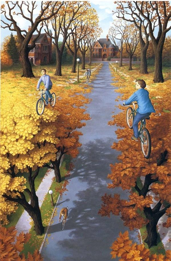 Bức tranh 3d đánh lừa thị giác cực đẹp