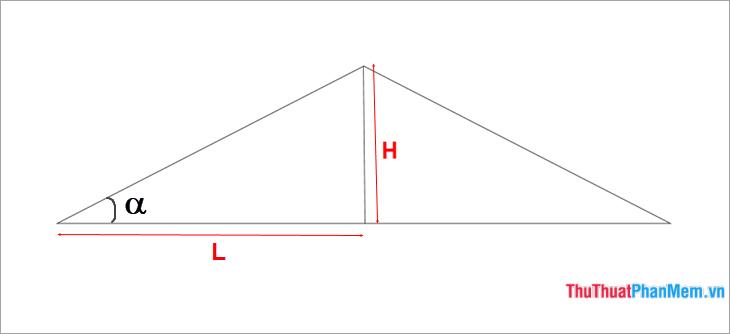 Cách tính độ dốc và góc dốc chuẩn