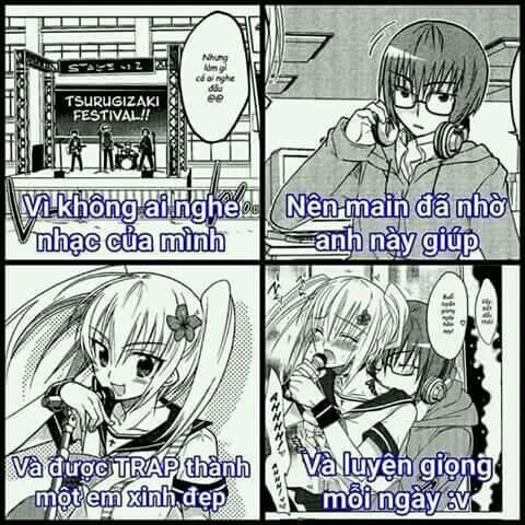 Hình ảnh chế hoạt hình Anime hài hước