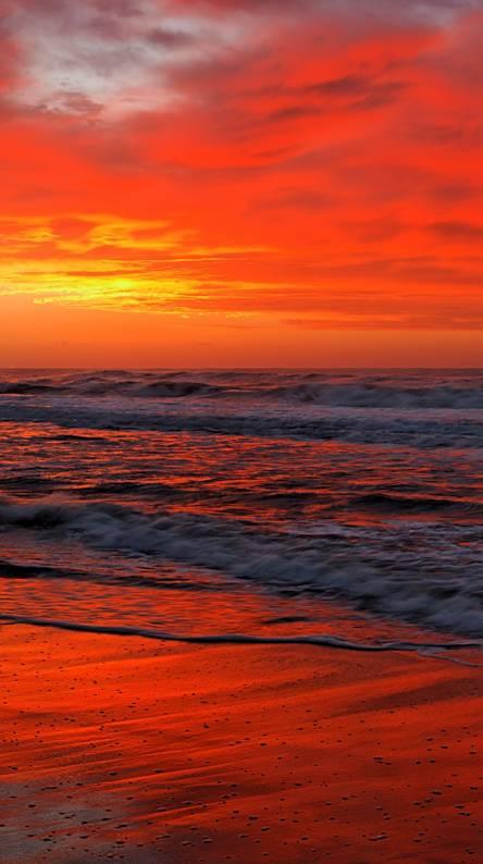 Hình nền điện thoại hoàng hôn trên biển
