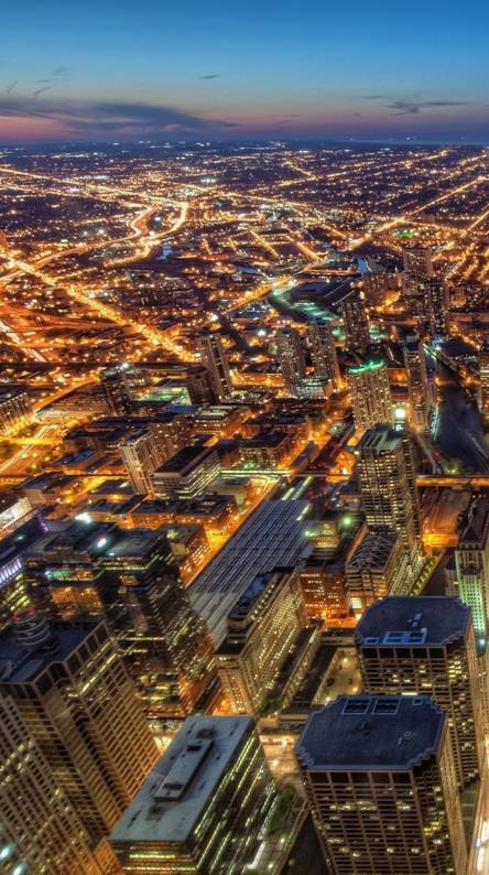 Hình nền điện thoại thành phố trên cao