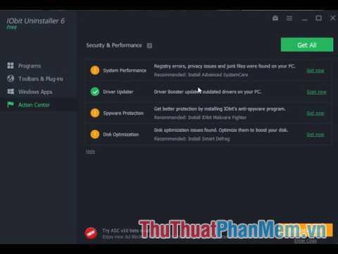 IObit Uninstaller – phần mềm gỡ ứng dụng sạch sẽ và triệt để