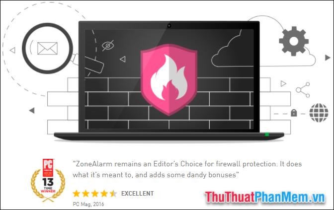 Phần mềm tường lửa ZoneAlarm Free Firewall