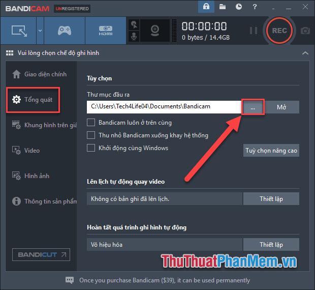 Cách sử dụng Bandicam để quay video màn hình, video game1