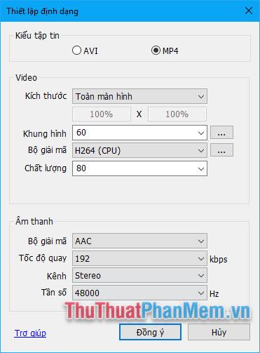 Cách sử dụng Bandicam để quay video màn hình, video game7