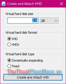 Cách tạo ổ đĩa ảo trên Windows bằng Simple VHD Manager2