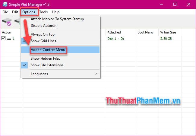 Cách tạo ổ đĩa ảo trên Windows bằng Simple VHD Manager8