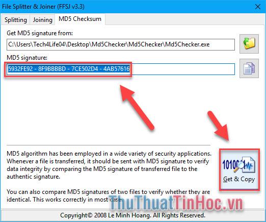 Check mã MD5, kiểm tra mã MD5 của file bất kỳ trên máy tính nhanh chóng, chính xác9
