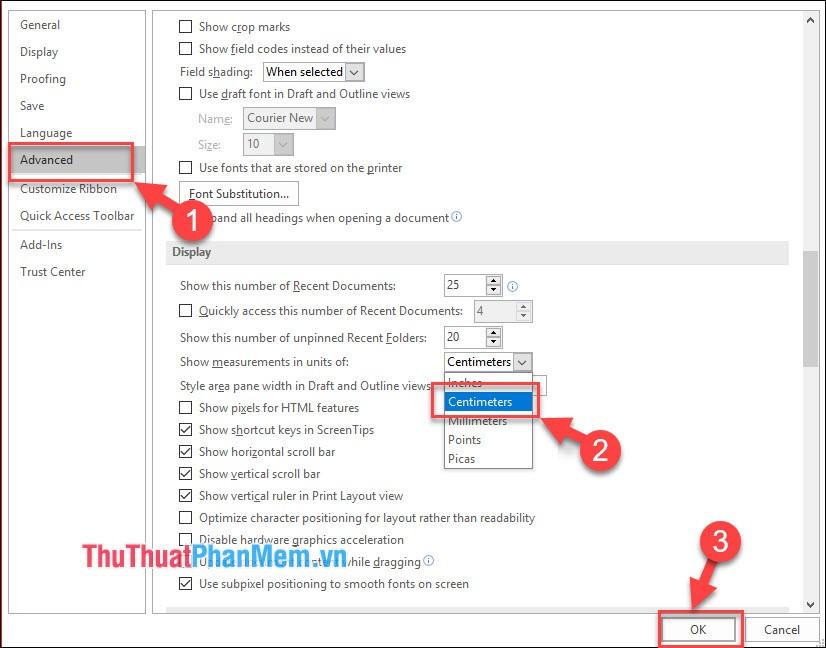 2 Microsoft Word và chỉnh lại đơn vị đo của văn bản