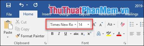 4 thiết lập font chữ
