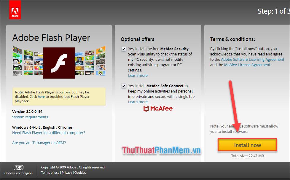 Cập nhật Flash Player
