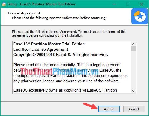 chia ổ cứng bằng phần mềm EaseUS Partition Master