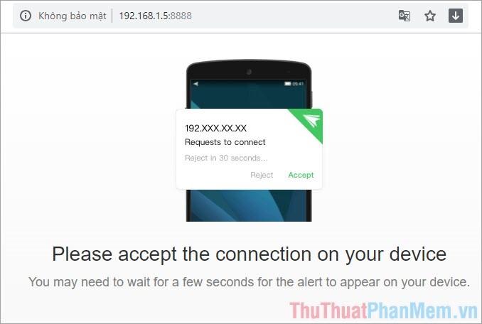 yêu cầu cấp quyền truy cập trên điện thoại