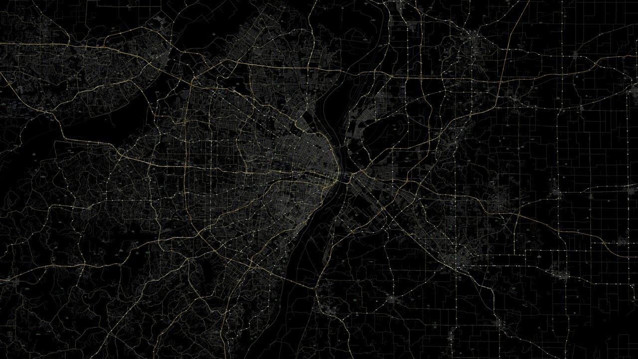 Background bản đồ đen