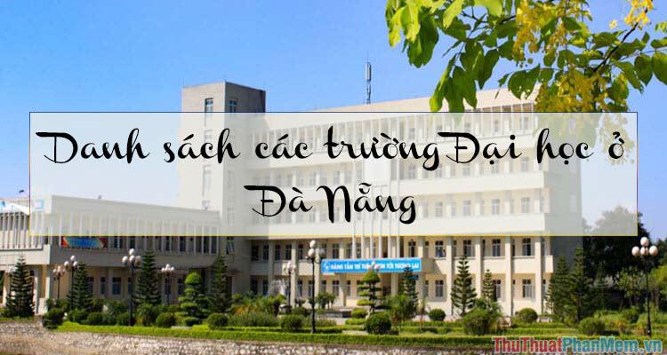Danh sách các trường đại học ở Đà Nẵng