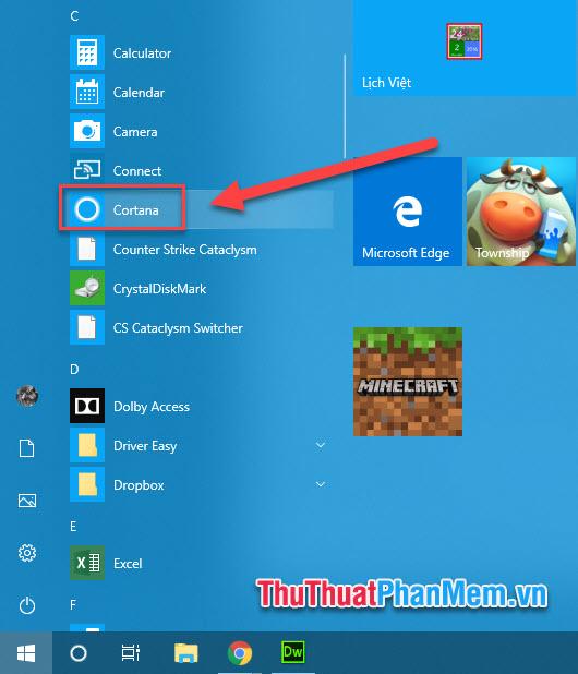 Cách sử dụng Cortana trên Windows 10