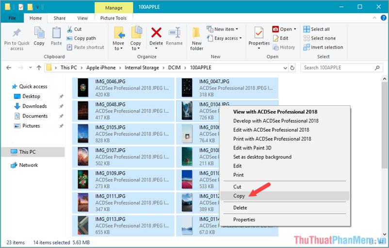 Chọn những ảnh yêu thích và lưu ảnh trên máy tính của bạn