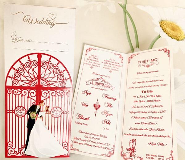 Hình ảnh thiệp cưới kèm bìa đẹp nhất