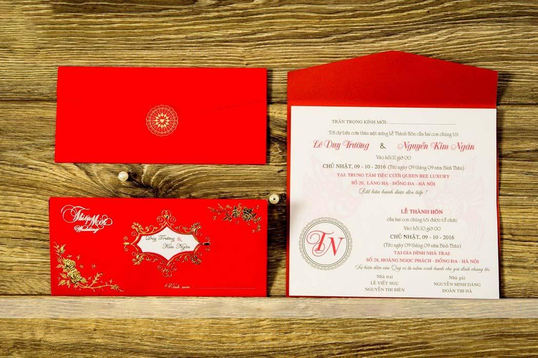 Hình ảnh thiệp đám cưới đỏ đẹp