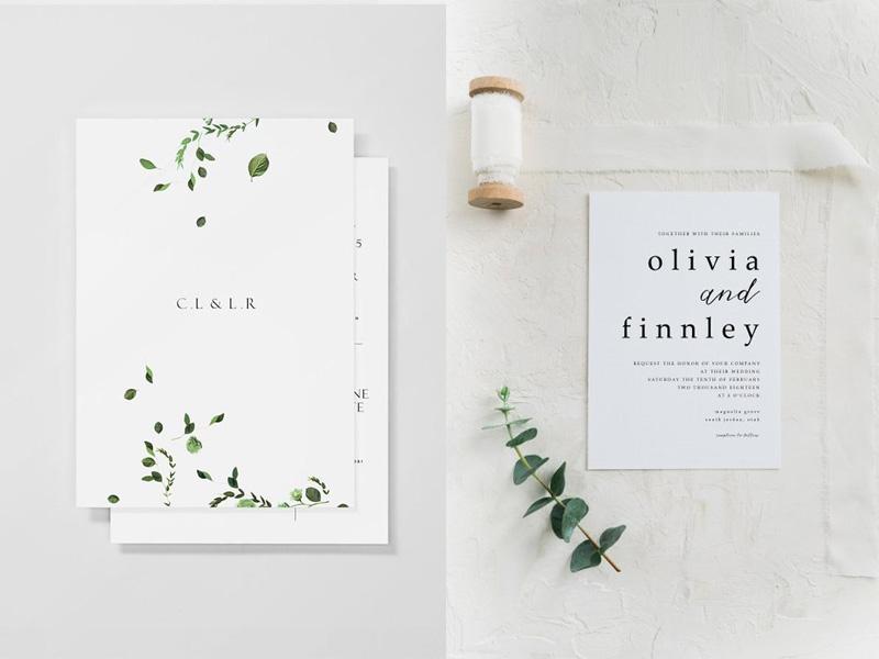 Hình mẫu thiệp cưới đẹp và đơn giản