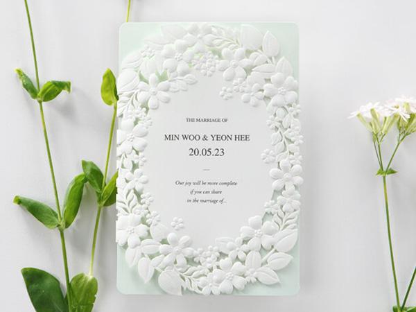 Hình mẫu thiệp cưới Hàn quốc đẹp