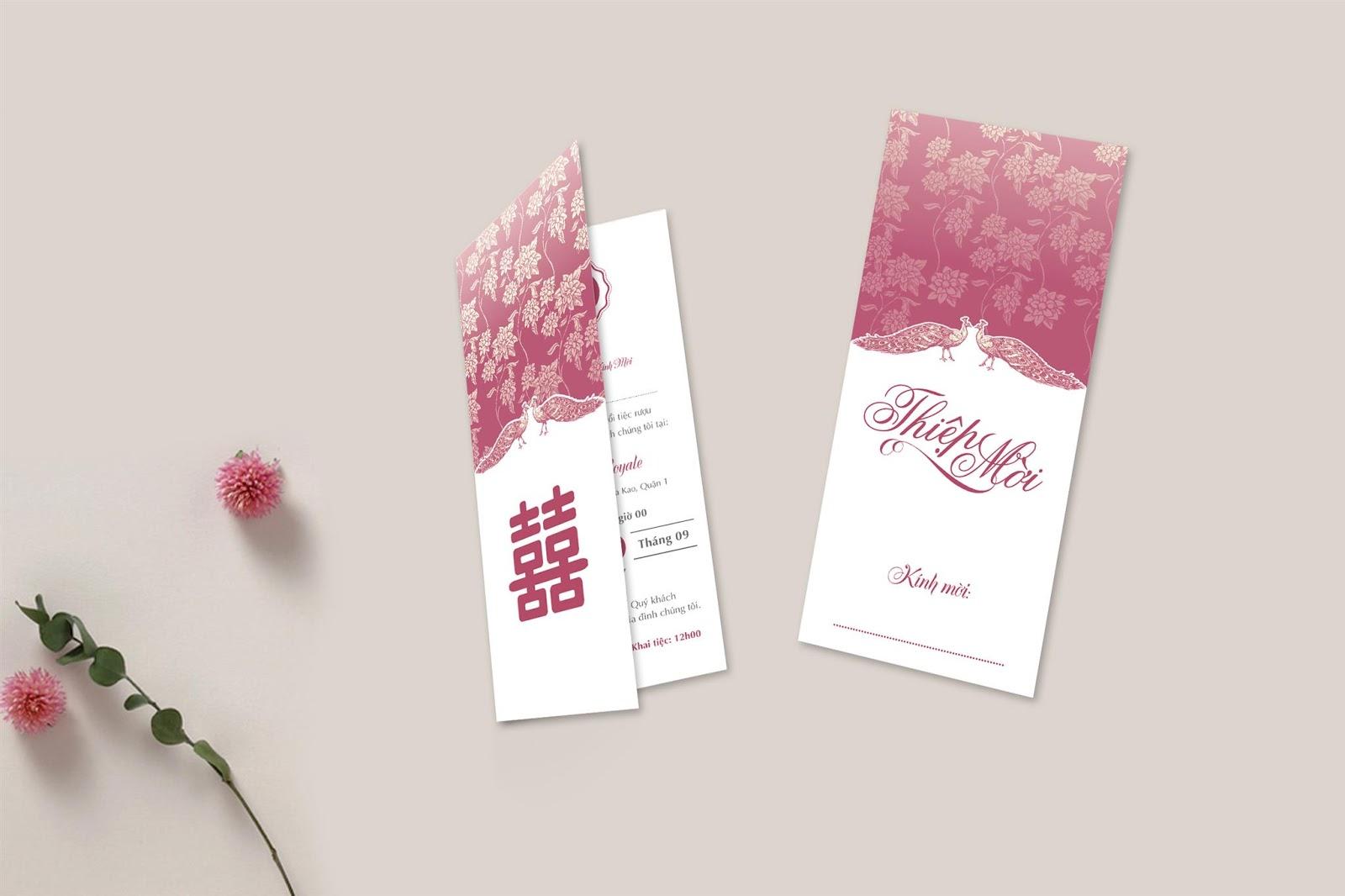 Hình mẫu thiệp mời đám cưới đẹp