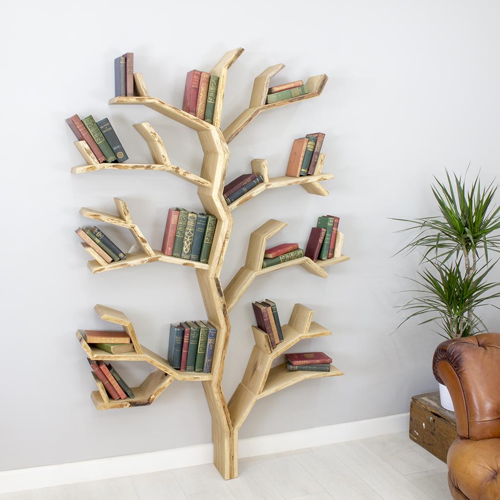 Mẫu kệ sách hình cây đẹp và lạ