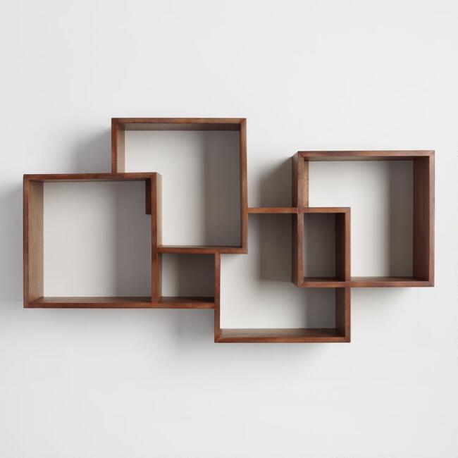 Mẫu kệ sách treo tường bằng gỗ