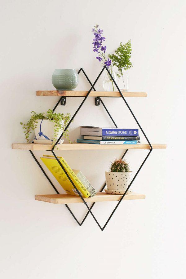 Mẫu kệ sách treo tường đẹp mà đơn giản