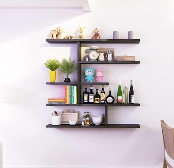 Mẫu kệ sách treo tường đơn giản mà đẹp