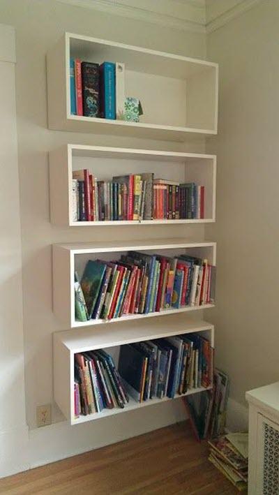 Mẫu kệ sách treo tường đơn giản và đẹp
