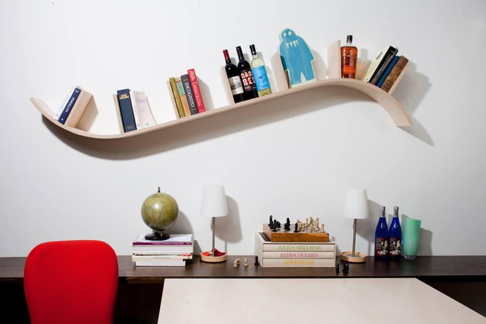 Mẫu kệ sách treo tường đơn giản và độc đáo