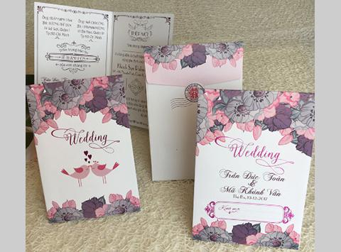 Mẫu nội dung và bìa thiệp cưới