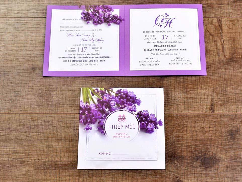 Mẫu thiệp cưới đẹp cho đám cưới