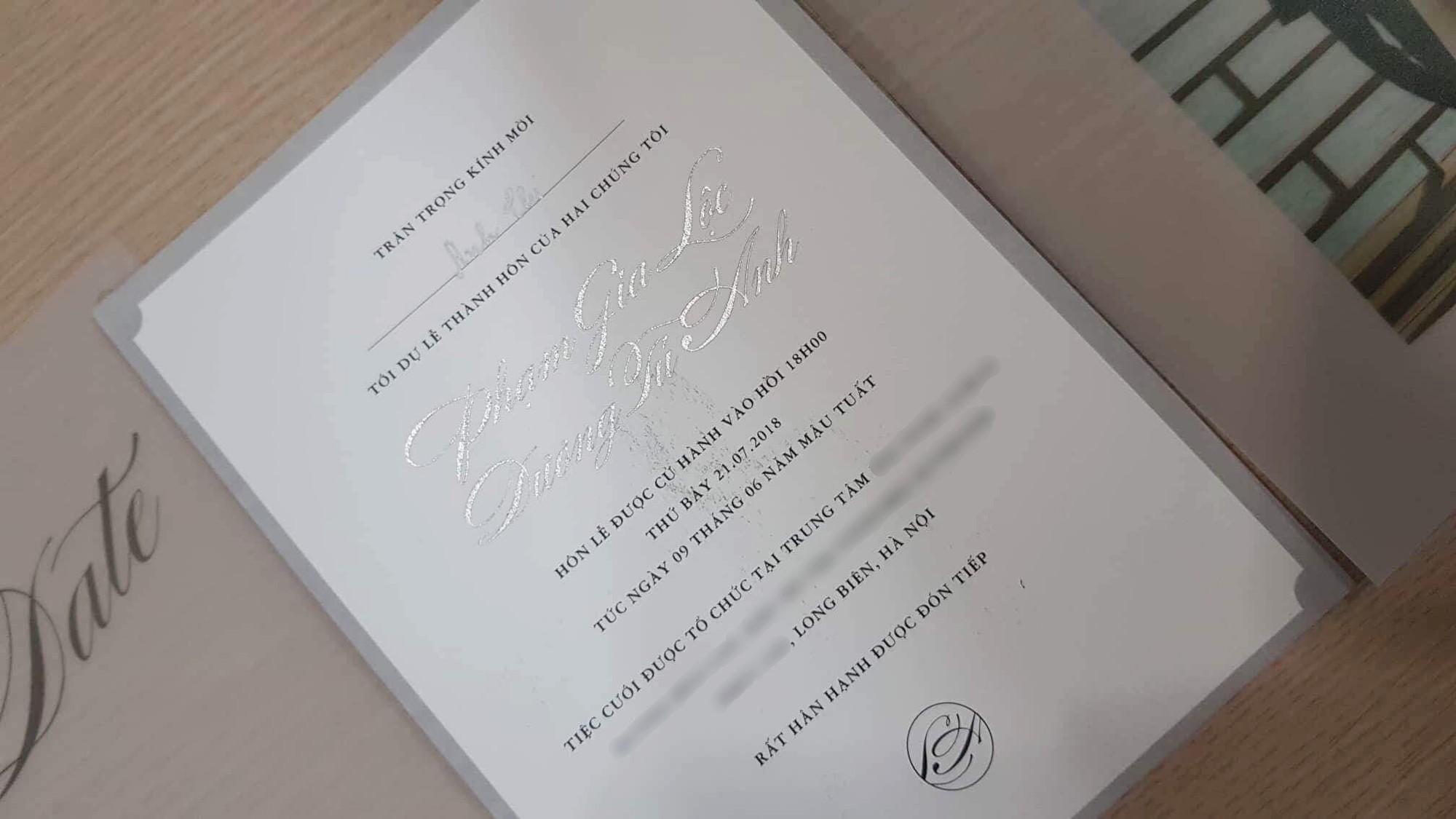 Mẫu thiệp cưới đẹp đơn giản và hiện đại
