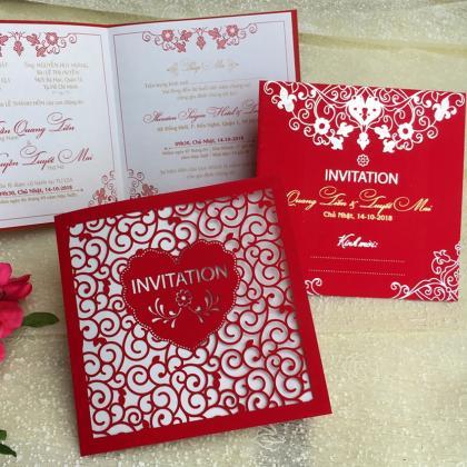 Mẫu thiệp cưới đỏ đẹp nhất