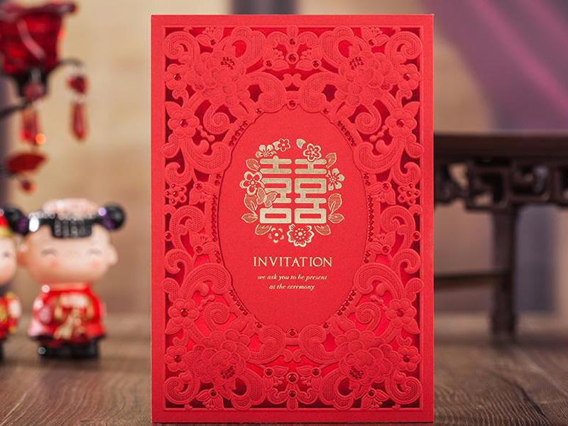 Mẫu thiệp cưới đỏ đẹp