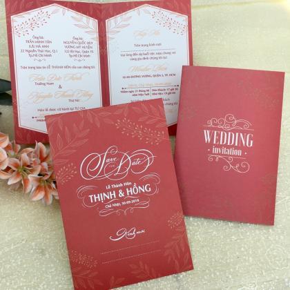Mẫu thiệp cưới đơn giản và hiện đại