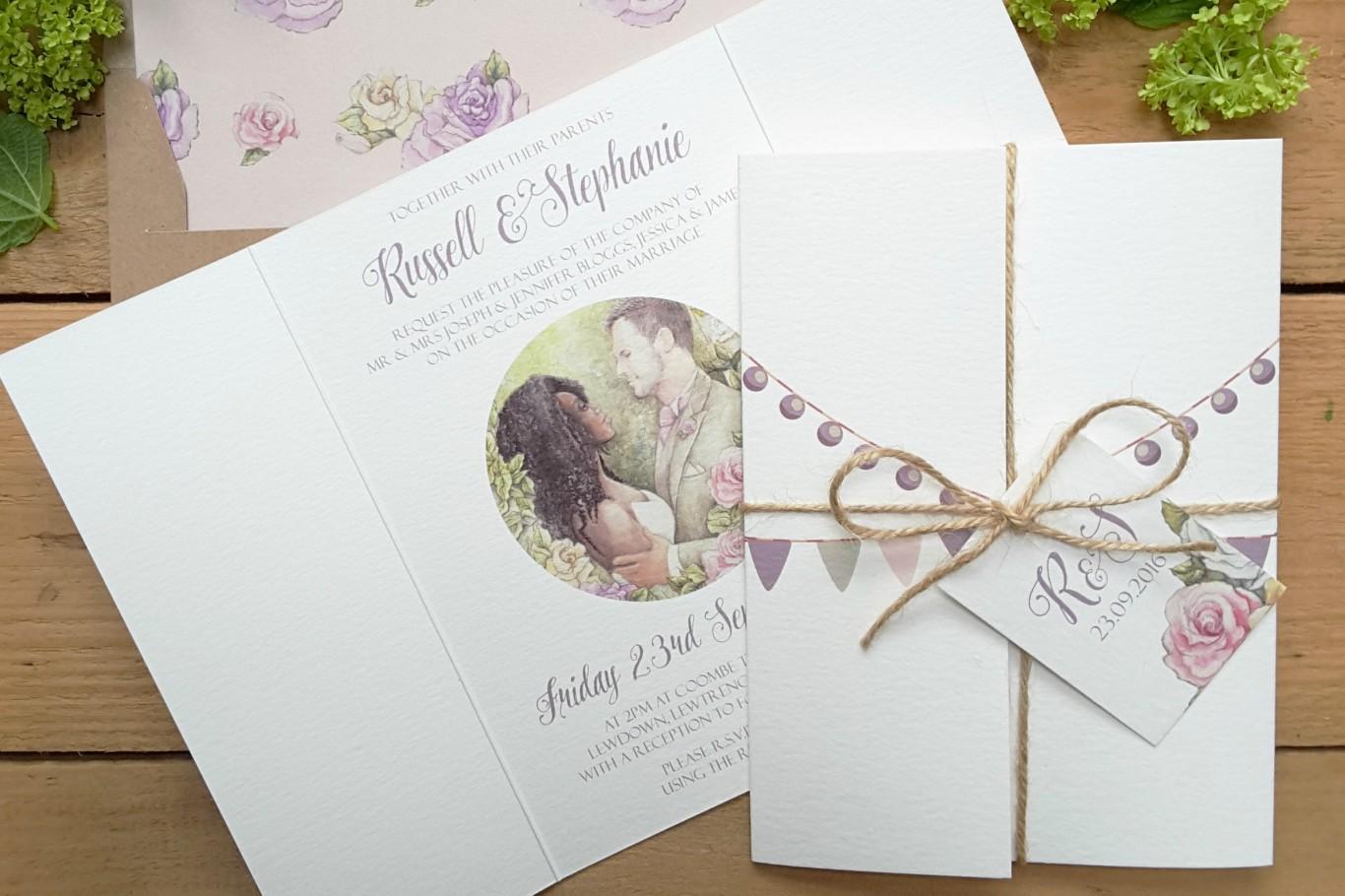 Mẫu thiệp cưới sang trọng wedding