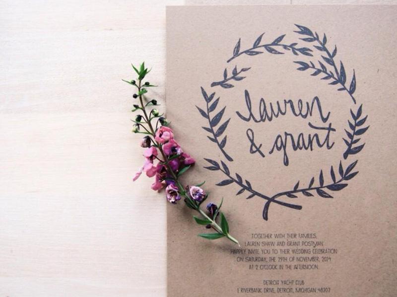 Mẫu thiệp mời cưới đẹp và đơn giản