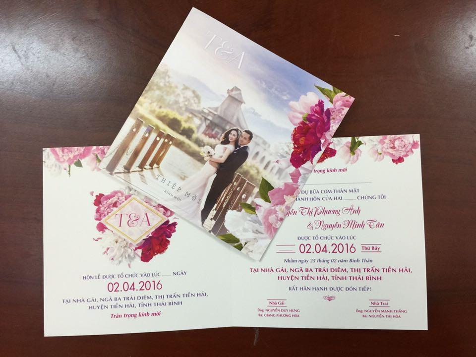 Mẫu thiẹp mời cưới đẹp
