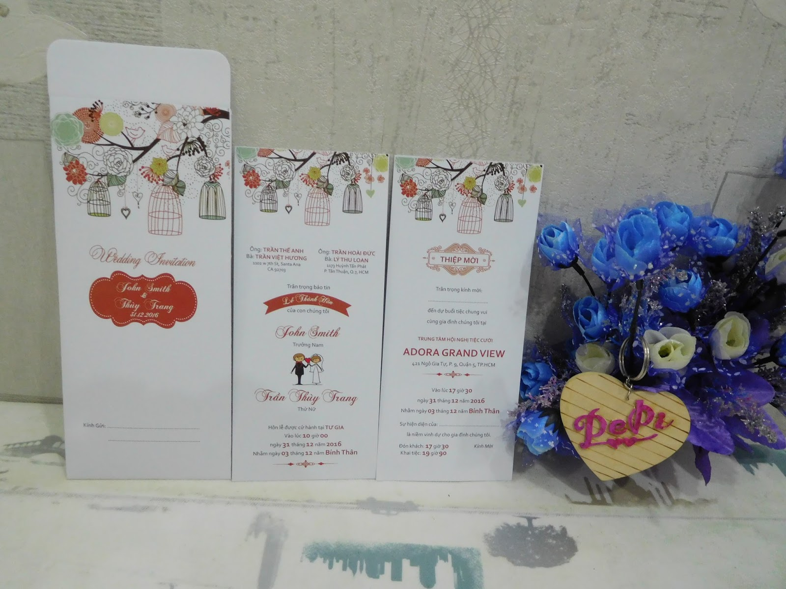 Mẫu thiệp mời đám cưới đẹp và độc đáo