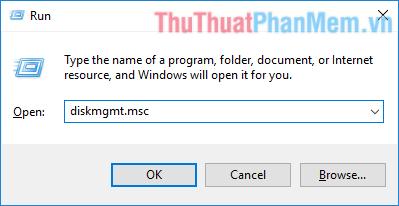 Mở Disk Management