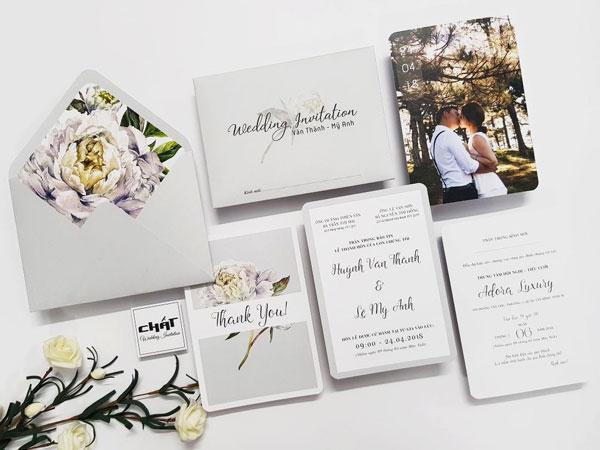 Những mẫu thiệp cưới đẹp và độc nhất