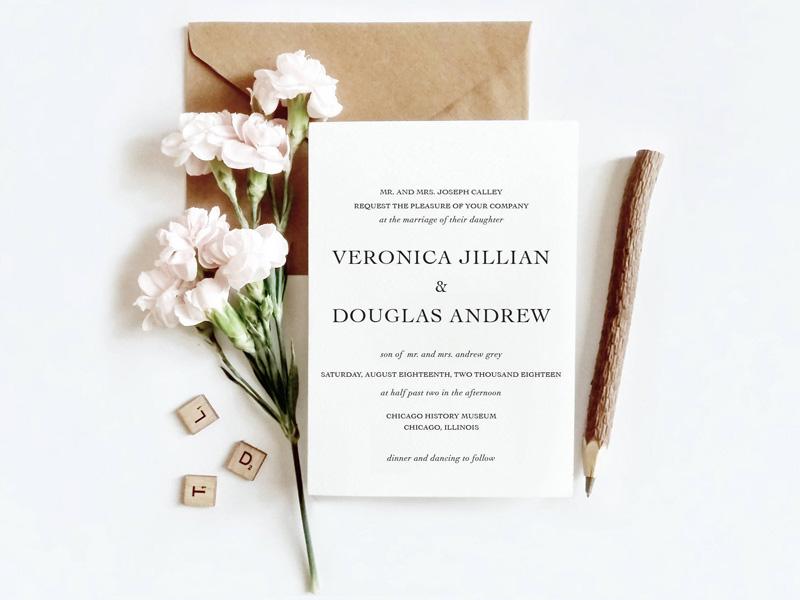Những mẫu thiệp cưới đẹp và đơn giản nhất