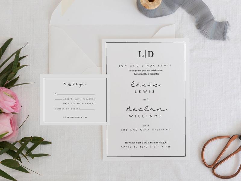 Những mẫu thiệp cưới đơn giản mà đẹp